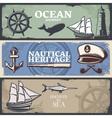 Nautical Banner Set vector image