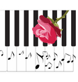 Abstract Piano Music background vector image