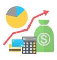 in flat style Finance growing concept vector image