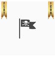 Jolly Roger or Skull and Cross bones Pirate flag vector image