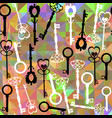 abstract vintage colorful vivid keys pattern vector image