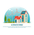 alternative energy green technology banner vector image vector image