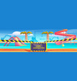 aqua park with swimming pool under construction vector image vector image
