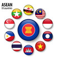 asean association southeast asian nations vector image
