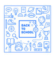 back to school poster or invitation design vector image vector image