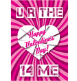 background with hearts Valentines Day vector image vector image