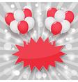 balloon starburst background vector image
