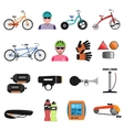 Bicycle Icons Flat Set vector image