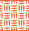 carrots seamless pattern vegetable field vector image