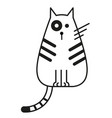 cat black and white line art vector image