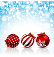 Christmas bals vector image vector image