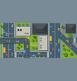 city traffic top view flat vector image