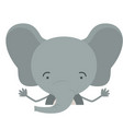 colorful half body caricature of cute elephant vector image vector image