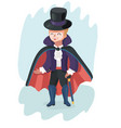 cute boy dressed up as dracula for halloween party vector image vector image