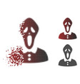 decomposed dot halftone horror icon vector image