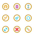 different cursor icons set cartoon style vector image vector image