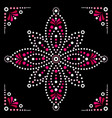 dot art flower traditional aboriginal art vector image