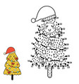 dot to game with a cute christmas tree vector image vector image