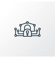 e-private network icon line symbol premium vector image vector image