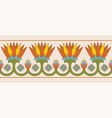 egyptian national ornaments vector image vector image