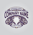 elegant badge ornament your company vector image vector image