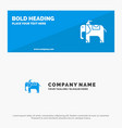 elephant animal solid icon website banner and vector image vector image