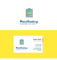 flat check list logo and visiting card template vector image vector image