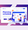flat modern design wesite template - planning vector image