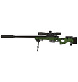 green sniper rifle vector image vector image
