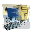 hand drawn computer vector image