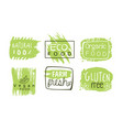healthy organic natural farm food labels templates vector image vector image