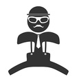 Hipster man jumping icon Isolated on white vector image vector image