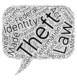 identity theft law text background wordcloud vector image vector image