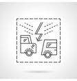 Insurance accidents flat line icon vector image