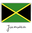 Jamaica flag doodle vector image vector image