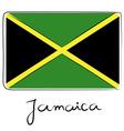 Jamaica flag doodle vector image