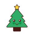 Kawaii christmas tree pine decoration cartoon