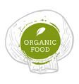 label champignon mushroom fresh natural eco food vector image vector image