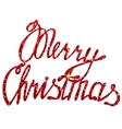 Merry Christmas lettering tinsels vector image