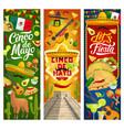 mexican cinco de mayo holiday party fiesta banners vector image vector image