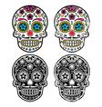 Mexican retro sugar skull Dia de los Muertos vector image vector image