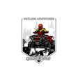 off-road wetland adventures with quad bike vector image vector image