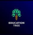 pencil human people tree education logo design vector image