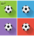 Pixel soccer ball vector image vector image