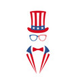 portrait of man in glasses tuxedo vector image vector image