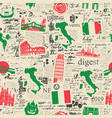 seamless pattern on theme italy vector image