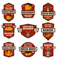 set bakery bread shop emblems design element vector image vector image
