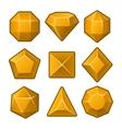 set orange gems for match3 games vector image vector image