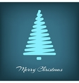 Simple blue Christmas tree in outlines vector image vector image
