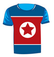t-shirt with flag of the north korea vector image